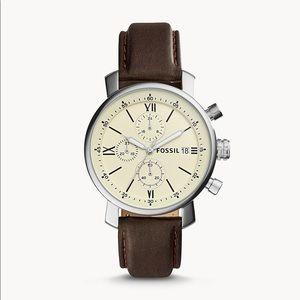Rhett Chronograph Brown Leather Watch